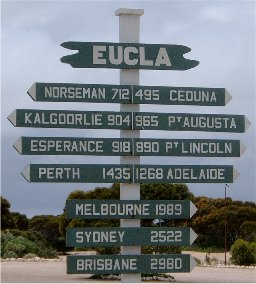 Sign at Eucla