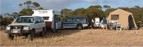 Free camping on the nullarbor