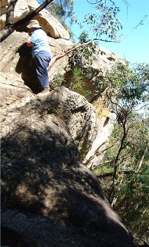 Rock climbing - Hollow Mountain