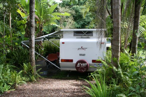 Our jungle campsite at Kuranda