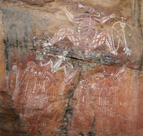 Rock art at Nourlangie
