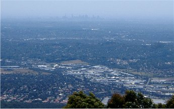 View of Melbourne from Mount Dandenong