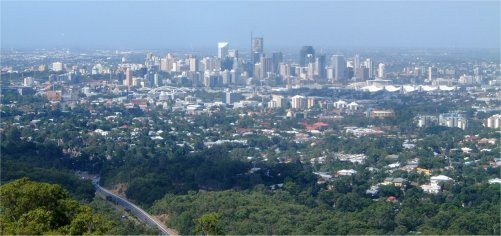Brisbane from Mount Coottha