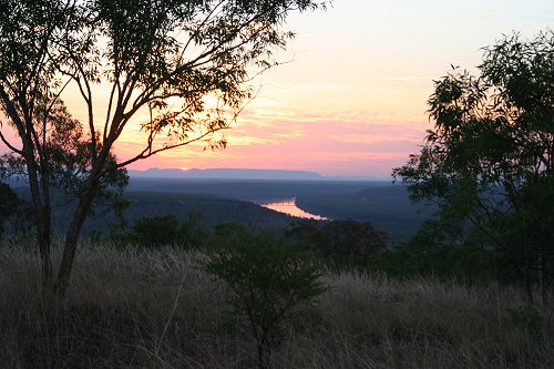 Sunset over the Pinkerton Ranges