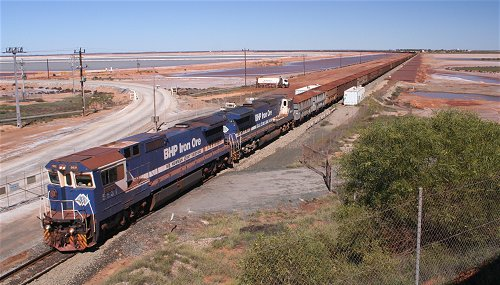 Iron Ore Train at Port Hedland