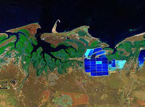 Port Hedland from space