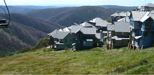 Ski Chalets on Mount Hotham