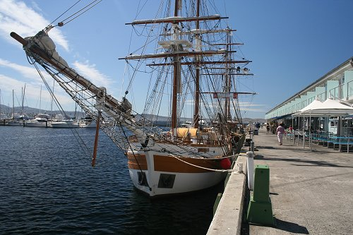 Old sailing boat in Hobart