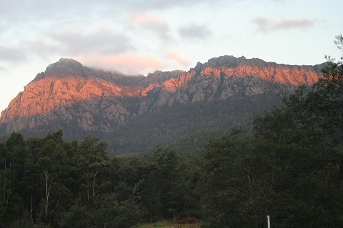 View of mountains at Gowrie Park