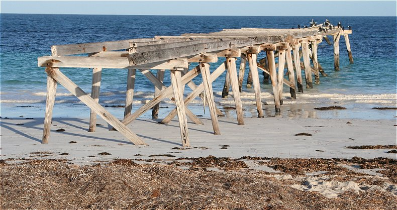 The old jetty at Eucla
