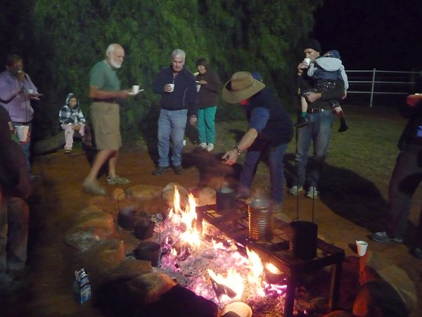 Campfire at Kings Creek Station