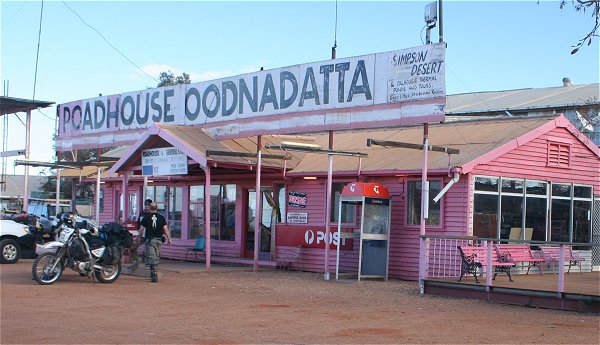 The Pink Roadhouse at Oodnadatta