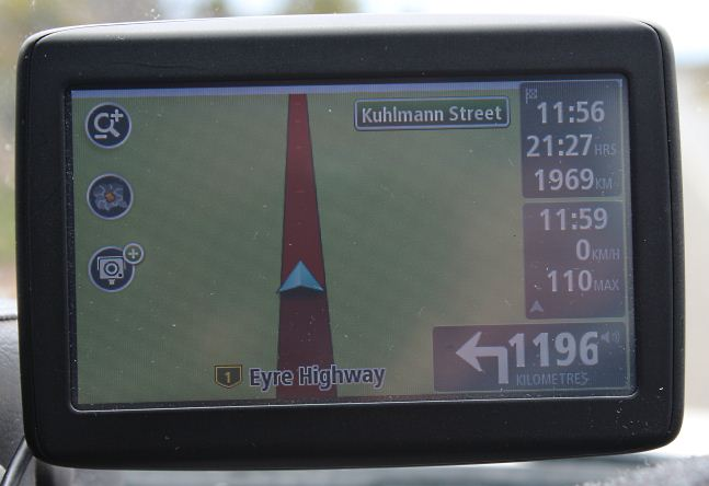 Turn left in 1196km